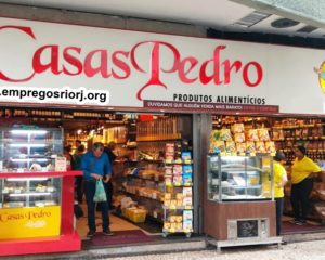 LOJAS CASAS PEDRO VAGAS P/ ESTOQUISTA, ATENDENTE DE LOJA E OUTROS CARGOS - R$ 1.118,99 - COM E SEM EXPERIENCIA - LOJA DE PRODUTOS NATURAIS - RIO DE JANEIRO