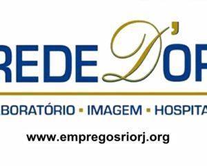 Rede D'Or está com vagas de empregos abertas - escala 12x36 - diversas areas - Rio de janeiro