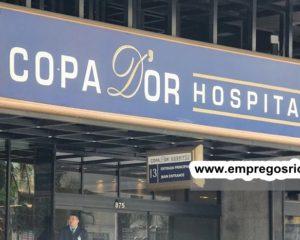 Rede D'Or vagas para recepcionista, mensageiro, auxiliar, operador, tecnico de enfermagem - escala 12x36 - Rio de janeiro