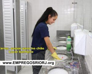 Servente de limpeza,ajudante de carga e descarga, jovem aprendiz, vendedora - R$ 1.300,00 - com e sem experiência - RJ