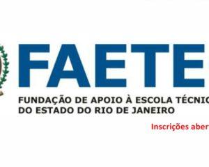 Faetec abre1.420 vagas para cursos profissionalizantes - Sem experiencia - Rio de janeiro